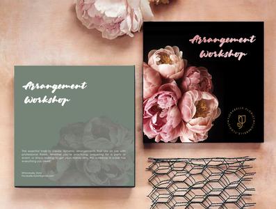 Arrangement workshop invitation card design invitation card design illustrator adobe branding design photoshop logo designer design branding graphicdesign
