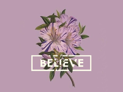 Believe! vector typography icon adobe illustrator photoshop designer design graphicdesign