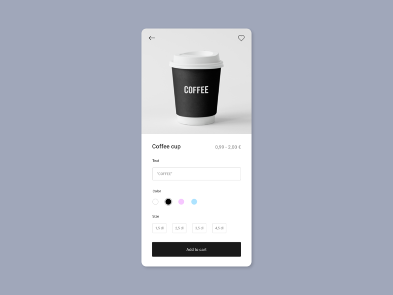 Customize Product mobile ux ui app 033 dailyui033 dailyui product customize customize product coffee