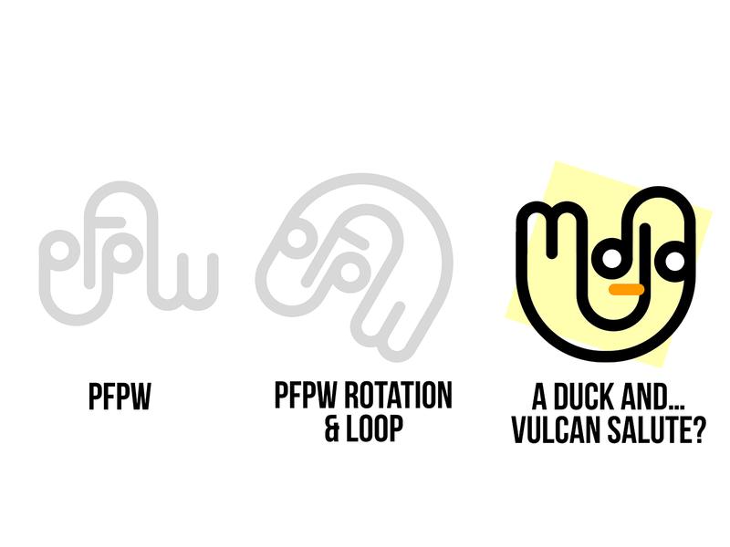 PWPF Logo test (fail) illustration vulcan salute startrek sketchapp logotype