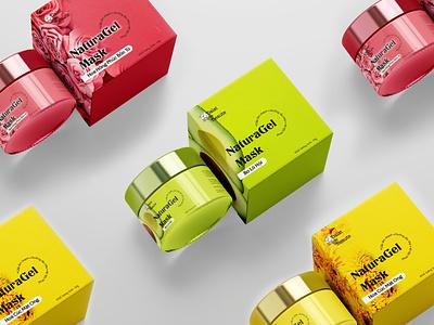 Dalat de Beauté  Nẩugel Mask packaging mockup packagingdesign packaging design packaging logo idea badiing logo design design branding