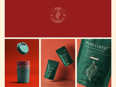 H PURE COFFEE - Branding packaging design packaging logo idea badiing logo design graphic design graphic design branding