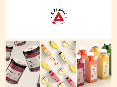 Akitchen brandig logo illustration idea badiing logo design graphic design graphic design branding