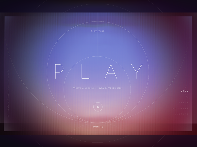 Exploration 1.3 ui future play motion graphics design poster experiment gradient circle shapes web
