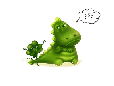 Dragon story 2 vegetables creative concept characterdesign food children dragon kids character