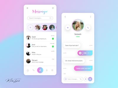 Messenger adobe xd messaging app messenger