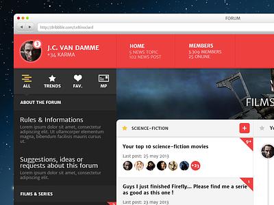 Forum design forum web ui ux topic