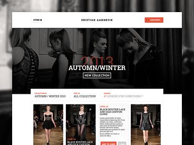 WIP - Online Store kristian aadnevik store ui online commerce fashion luxury
