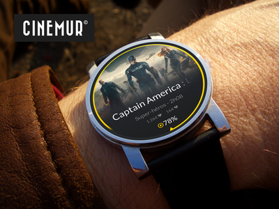 Cinémur - Android Wear + feelings android smartwatch wear watch cinemur moto 360 motorola google