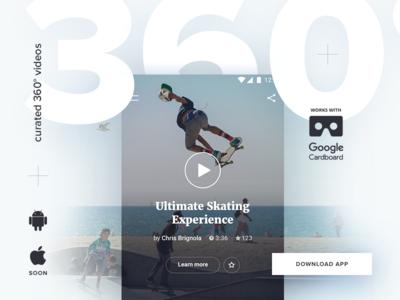 360° videos app.