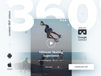 360° videos app. app android cardboard curated videos vr 360