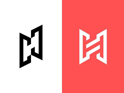 H Logo movie dna orange letter h logotype logo