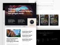 Blog template for Ghost platform