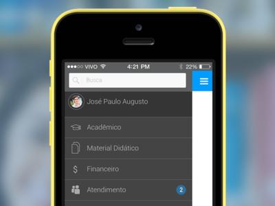 Main menu - Campus virtual concept
