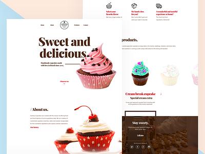 Cardoso Cupcakes bakery branding landing interaction web ux ui cupcake