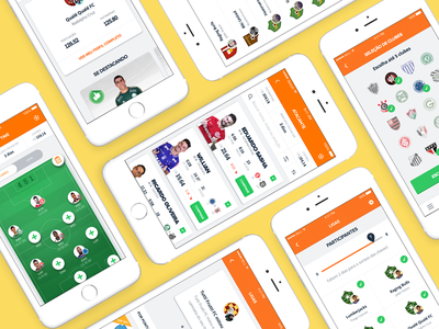 The new Cartola FC is out! fantasy game interaction design player battle ux football game soccer graph ui app