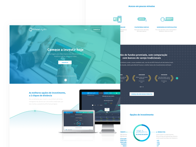 Investment Bank landing page investment dashboard ux ui web landing investments economy bank