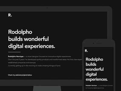 Personal portfolio 2017 app webflow responsive mobile ux ui design digital web portfolio