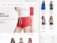 Fashion listing page