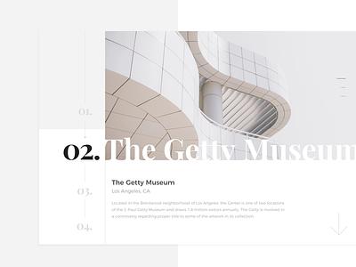 Getty Museum - Detail page grid responsive typography museum trip web digital ux ui minimal brand