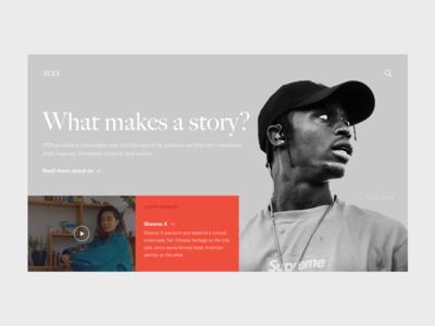 TGD responsive serif grid minimal typography prototype the great discontent interview ux ui