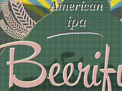 Detail for a craftbeer label