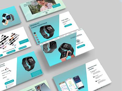 Redesign du site web Fitbit redesign webdesign uiux