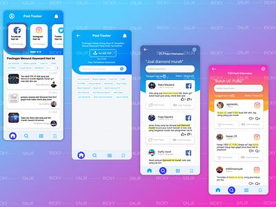 Post Tracker UI social media ui inspiration data app ui social media app social media ui userinterface ui  ux ui mobile app ui mobile ui design ui app ui app