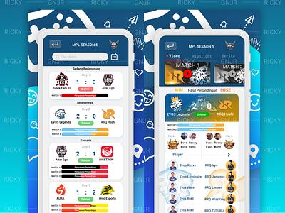E-sport UI (1/3) esport app esport ui game app ui userinterface ui  ux ui mobile app ui mobile ui design ui app app