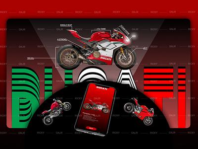 😡 Ducati Panigale web vector art motorcycle bike ducati branding illustration design ui  ux ui design