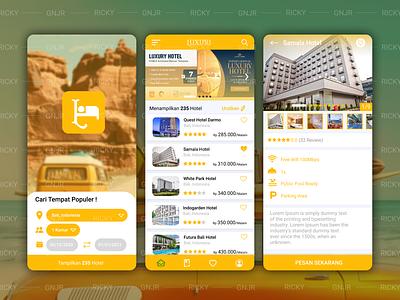 Luxury Hotel UI ui hotel app hotel ui userinterface ui mobile ui app app ui  ux ui design