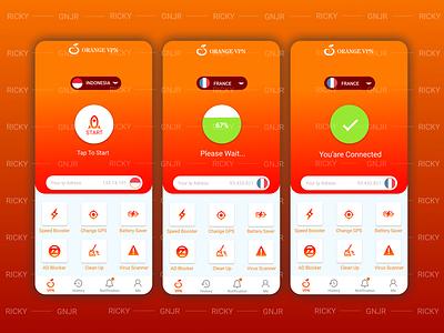 VPN APP UI vpn app vpn vpn ui ui ui mobile ui app app ui  ux ui design