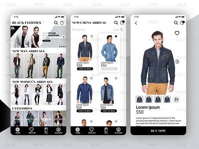 Clothes UI store app ui clothes app clothes ui user interface ui mobile ui app app ui  ux ui design