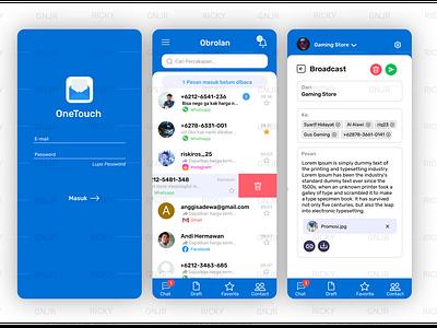 Broadcast Message App UI message app ui email ui mail app ui broadcast ui broadcast ui user interface ui app ui  ux ui design