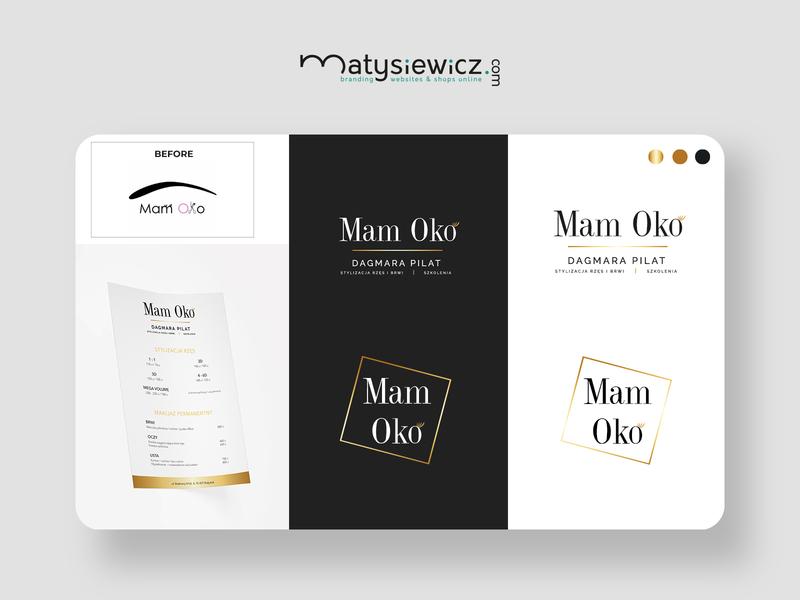 """Logo Design: Rebranding of """"Mam Oko"""" logo rebranding typography design brand identity branding"""
