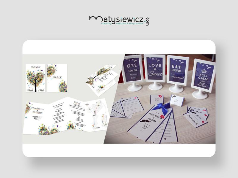Print design: Wedding Design Pack wedding card typography design