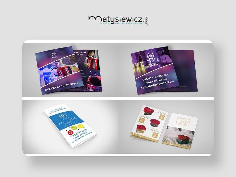 Print design: Leaflet Pack leaflet typography design