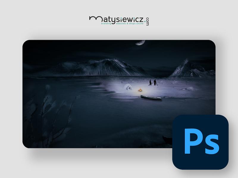 Photo Manipulation: The Eskimos at Night matte painting photomanipulation photoshop design