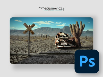 Photo Manipulation: Wild West matte painting photo manipulation photoshop design