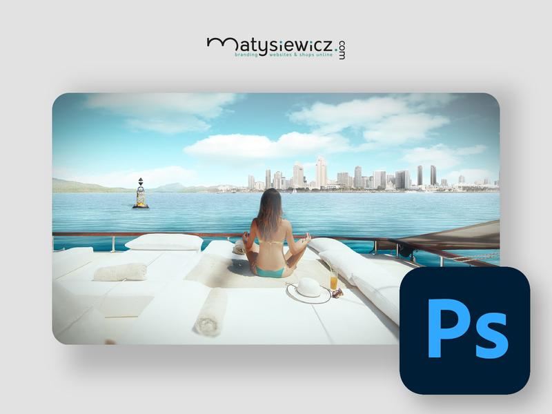 Photo Manipulation: Yacht Chillin' matte painting photo manipulation photoshop design