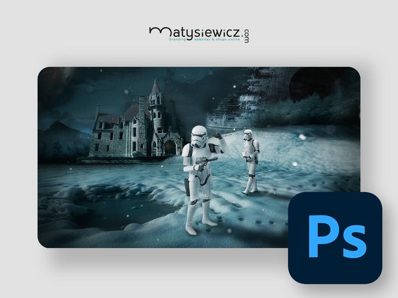 Photo Manipulation: Star Wars Troopers in Action matte painting photo manipulation photoshop design