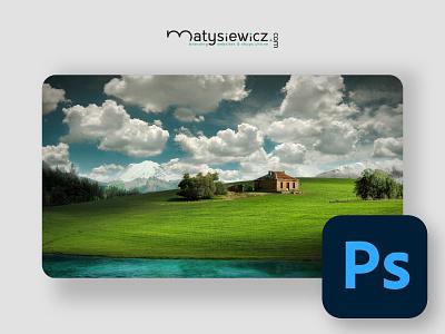 Photo Manipulation: Windows XP Wallpaper Transformation matte painting photo manipulation photoshop design