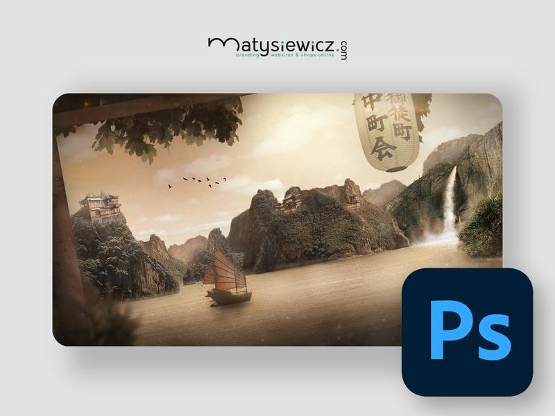 Photo Manipulation: Japanese Style matte painting photo manipulation photoshop design