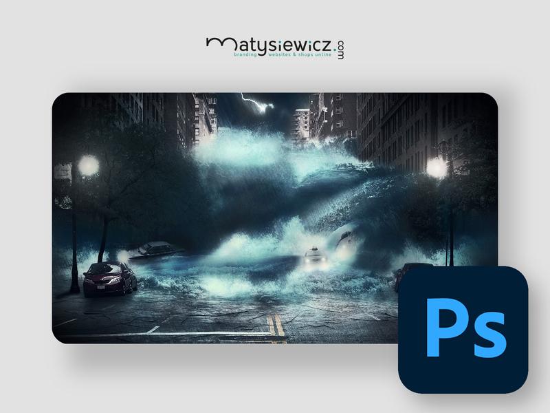 Photo Manipulation: New York Tsunami matte painting photo manipulation photoshop design