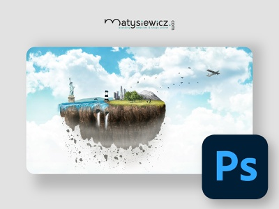 Photo Manipulation: Sky Island matte painting photo manipulation photoshop design