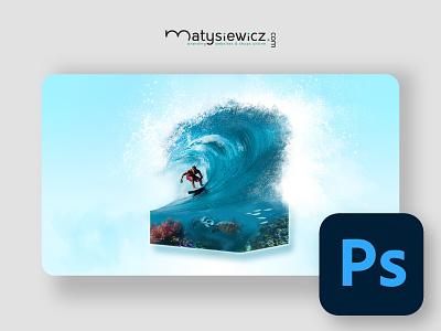 Photo Manipulation: 1m3 Aqua Park matte painting photo manipulation photoshop design