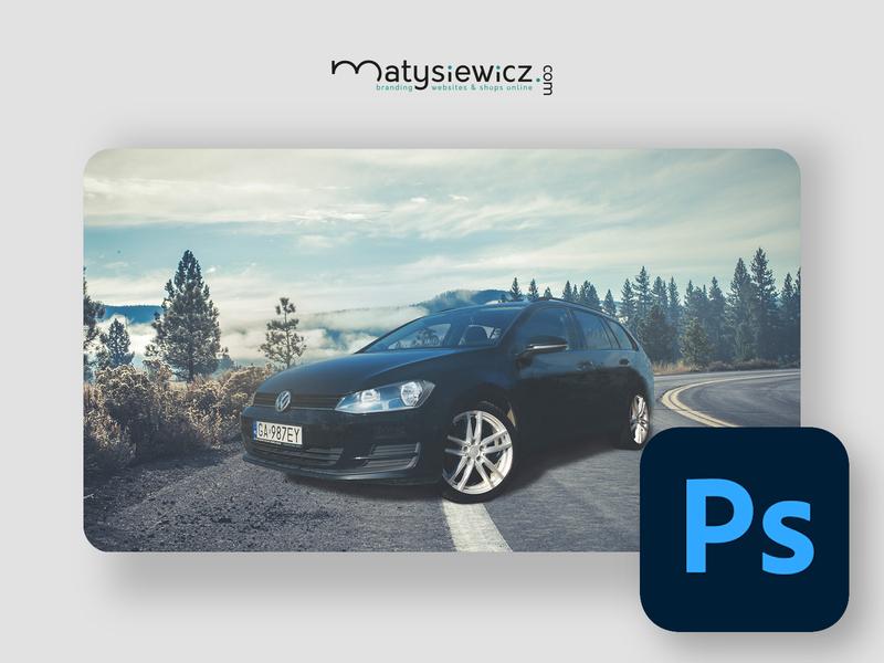 Photo Manipulation: VW Golf 7 photoshop matte painting photo manipulation design