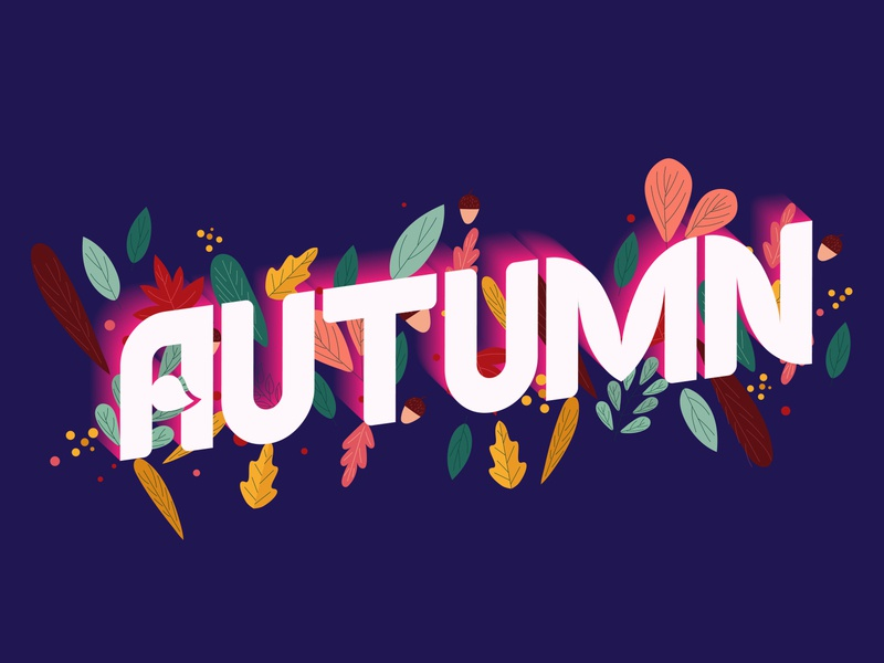 Autumn типографика typography effect 3д текст осень 3d text letters lettering stylish text text effect style text typeface word autumn type font text graphic 3d