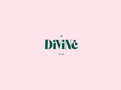 Divine Club Bcn - Logo logotype weed logo typography branding barcelona weeds pink club weed lgbt divine
