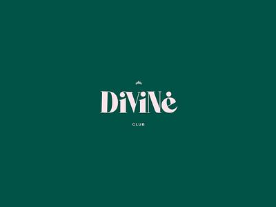 Divine Club Bcn - Logo .2 branding logotype lgbt divine club barcelona green pink weed logo logo